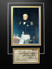 THOMAS BYAM MARTIN - ADMIRAL SERVED IN MANY CONFLICTS  - SIGNED COLOUR DISPLAY