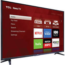 "TCL Roku 55"" Class 4K Ultra HD Smart LED TV 2160p 120Hz 55US57 4 HDMI HDTV"