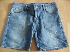 MANGO coole used look Jeans Shorts m. Nieten Gr. 34 TOP KJ914