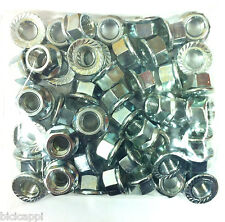 "JOB LOT OF 50 X 3/8"" TRACK NUTS NON SPIN SILVER, 25 PAIRS"