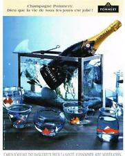 PUBLICITE ADVERTISING  1996   POMMERY   champagne