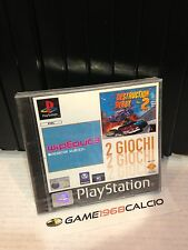 WIPEOUT 3 + DESTRUCTION DERBY 2 PAL PS1 NUOVO NEW SEALED PLAYSTATION 1 RARO