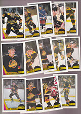 1987 OPC Team SET lot of 14 Vancouver CANUCKS NM/MT o-pee-chee SMYL TANTI