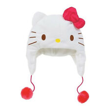 Sanrio Hello Kitty Kids Face Hat :Red Ribbon & White Face  (New)  Kids size