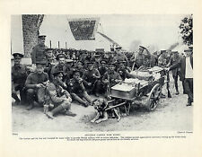 FIRST WORLD WAR SOLDIERS MAN SELLING FROM DOG CART OLD PRINT PAGE FROM 1934