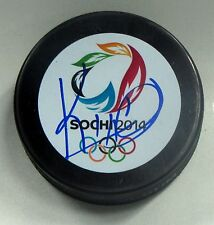 KEN HITCHCOCK Signed 2014 SOCHI OLYMPIC HOCKEY PUCK! TEAM CANADA! BLUES 1002898
