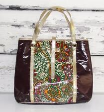 KATE LANDRY~MULTI-COLORED~LARGE~COATED~FLORAL~TRAVEL CARRYALL SHOPPERS TOTE BAG