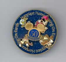 Disney Disneyland 50th Happiest Homecoming Goofy Donald Minnie Mickey Spin Pin