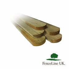 Pack of 20 Treated Picket Pales Round Top Garden Fencing 70mm Wide 1.2m 4ft Long