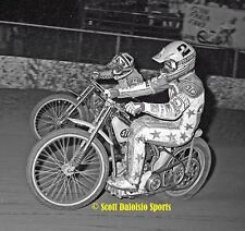 1987 ALAN CHRISTIAN  PHIL COLLINS IMS 8 X 10 SPEEDWAY MOTORCYCLE PHOTO
