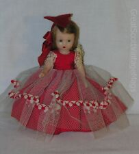 "Vintage 1950's Nancy Ann Story Book Queen of Hearts Doll 6"" Tall GORGEOUS"