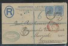 TOBAGO  (PP2708B)  1893 RLE QV 2 1/2 DX2  TO  GERMANY