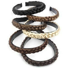 Womens Braided Synthetic Hair Plaited Fishtail Elastic Head Alice band Hairband