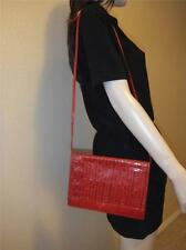 1980's Vintage FENDI Red Woven Shoulder Bag Clutch Perforated FF Expandable WOW