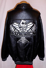 "AVIREX """" NEW YORK ""NIGHT PHOENIX"" Leather  Jacket/Coat**4XL***$700***99% NEWBIE"
