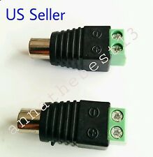 2 pcs Speaker Wire Cable to FEMALE RCA Connector Adapter Jack Plug Bose
