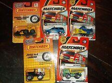 Vintage Toy Cars MATCHBOX(2001)-5 TOTAL 2 tough 3 Construction Vehicles-UnOpened