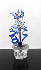 Amazing Glass Flower Ornament Stunning Decoration For Living Room Any Room New