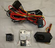 Universal WIRELESS Fog Light Harness Wire Kit + REMOTE Switch + Relay