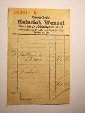 Heinrich Wenzel aus Butzbach - Kassa-Zettel / Rechnung