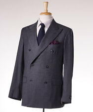 NWT $3195 BELVEST Gray Mini Houndstooth Check Wool Suit 38 R (Eu 48) Modern-Fit