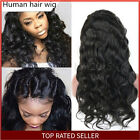 Glueless100% Brazilian Virgin Human Hair Body Wave Lace Front Wig Full Lace Wigs
