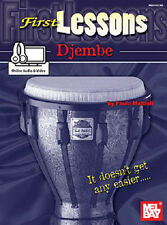 FIRST LESSONS BEGINNER DJEMBE DRUM BOOK NEW