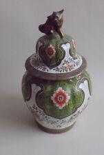 Desvres. Fourmaintraux Gabriel. Rare pot couvert en porcelaine, début XXe