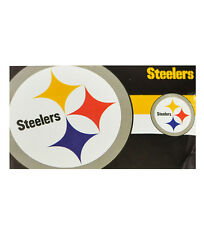 NEW PITTSBURGH STEELERS FLAG (OFFICIAL MERCHANDISE) NFL AMERICAN FOOTBALL