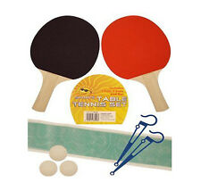 2 PLAYER TABLE TENNIS SET BATS 3 BALLS NET POLE SET