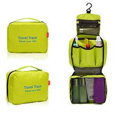 Ladies Mens Wash Bag Travel Toilet Bag Hanging Toiletries Makeup Bag Zipper