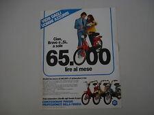 advertising Pubblicità 1983 PIAGGIO 50 BRAVO , SI , CIAO