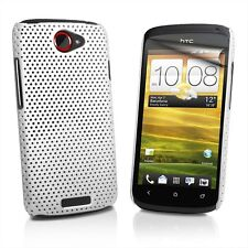 FUNDA CARCASA PROTECTOR PERFORADA HTC ONE S BLANCA CASE