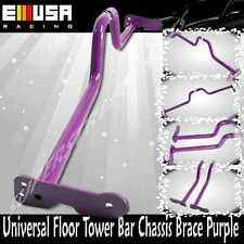 Adj. Interior Stabilizer Floor Bar Chassis Brace Universal Honda Civic PURPLE