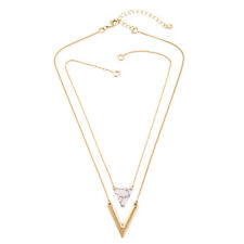 Fashion Charm Jewelry Crystal Choker Chunky Statement Bib Pendant Necklace Chain