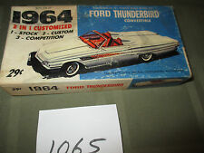 "VINTAGE PALMER MODEL 1964 FORD THUNDERBIRD 5""L W/ box PLASTIC BUILT"