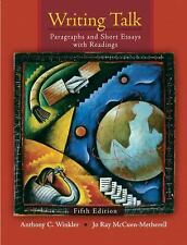 Writing Talk : Paragraphs and Short Essays with Readings by Anthony C....