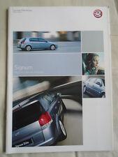 Vauxhall Signum range brochure 2004 Ed 1