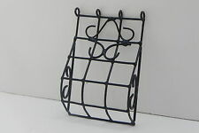 Dollhouse Miniature Wrought Iron Look Black Window Curved Bars Gates