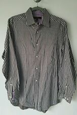 Ben Sherman Men's Striped Button Front Dress Shirt M 15  32-33