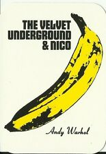 VELVET UNDERGROUND andy warhol - RARE shaped VINYL STICKER no longer made