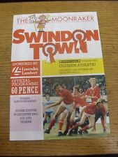 10/10/1987 Swindon Town v Oldham Athletic  . Item appears to be in good conditio