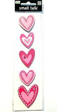 Me & My Big Ideas - Small Talk - HEARTS -Valentines Day Love Stickers w/ Gems