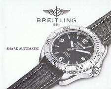 BREITLING SHARK AUTOMATIC ANLEITUNG INSTRUCTIONS I438