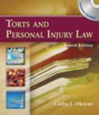 Torts and Personal Injury Law by Okrent, Cathy, Good Book