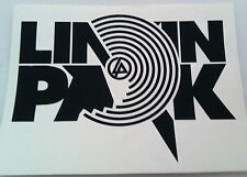 LINKIN PARK Black Target Block Logo RUB-ON car window STICKER NEW OFFICIAL MERCH