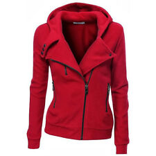 Fashion Womens Slim Zipper Hoodie Jacket Coat Ladies Casual Warm Tops Outwear UK