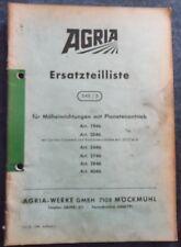 Agria Ersatztteilliste 548/3  für Mäheinrichtungen mit Planetenantrieb