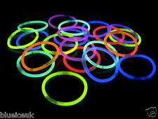 "100 8"" GLOW STICKS GLOW BRACELETS NEON GLOWSTICKS BANGLES NECKLACE PARTIES EVENT"