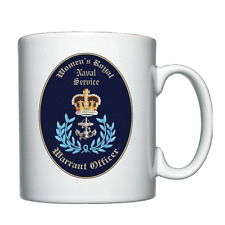 WRNS - Warrant Offficer Cap Badge - Personalised Mug